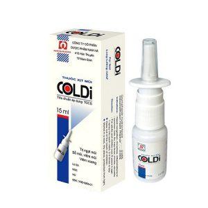 6.Thuốc xịt mũi, chữa viêm mũi dị ứng, tắc mũi – Coldi-B
