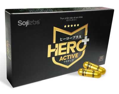 2. Thuốc quan hệ lâu xuất tinh Hero+ Active