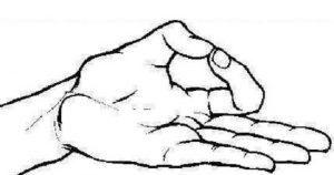 2.Sóc lọ bằng cách dùng ngón trỏ và ngón cái