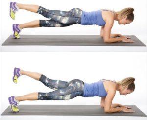 2.Bài tập Plank 1 chân không tựa