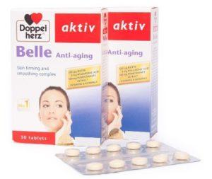 5.Thực phẩm chức năng dành cho nữ giới tiền mãn kinh- Doppelherz Aktiv Belle Anti-Aging