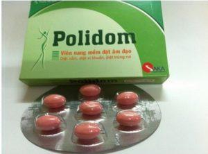 Thuốc đặt trị viêm nhiễm phụ khoa Polidom